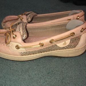 Sperry gold accent boat shoes